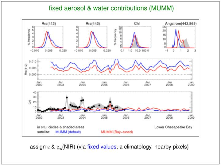 fixed aerosol & water contributions (MUMM)