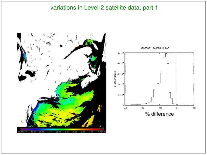 variations in Level-2 satellite data, part 1