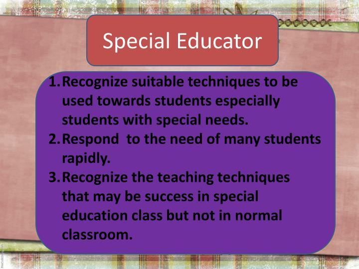 Special Educator