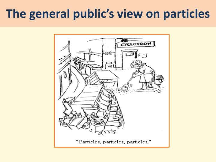 The general public's view on particles
