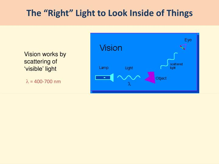 "The ""Right"" Light to Look Inside of Things"