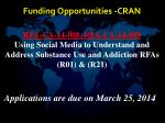 funding opportunities cran