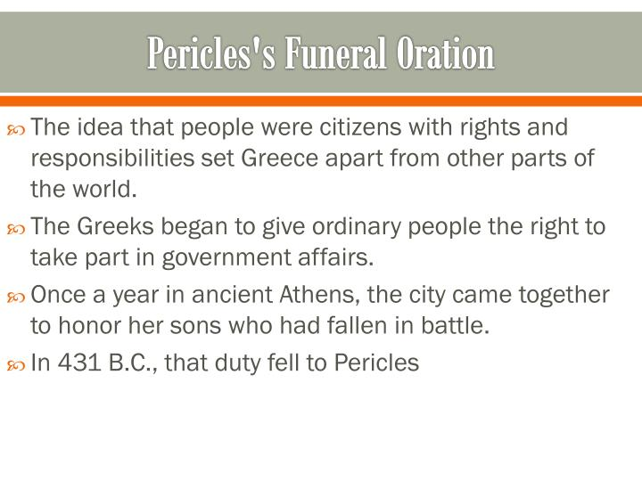 Pericles's Funeral Oration