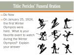 title pericles funeral oration