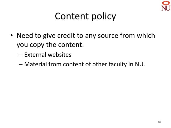 Content policy