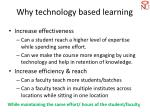 why technology based learning