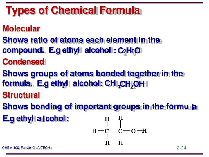 Types of Chemical Formula