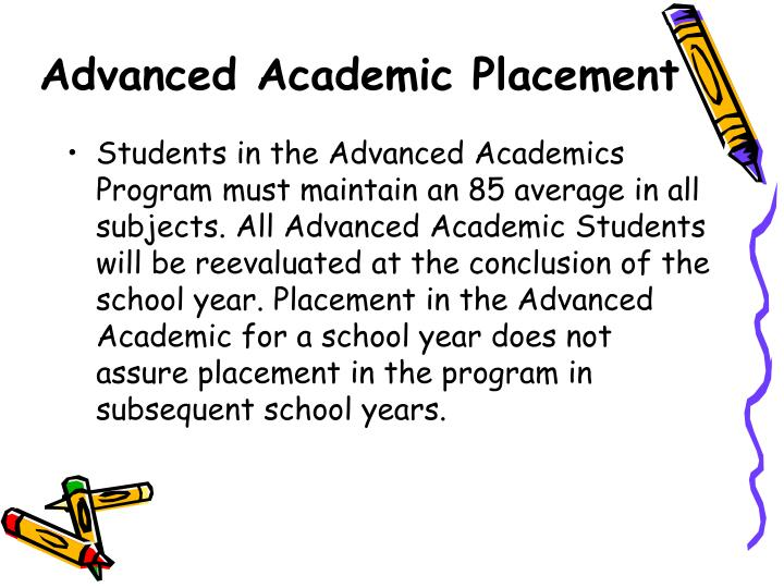 Advanced Academic Placement