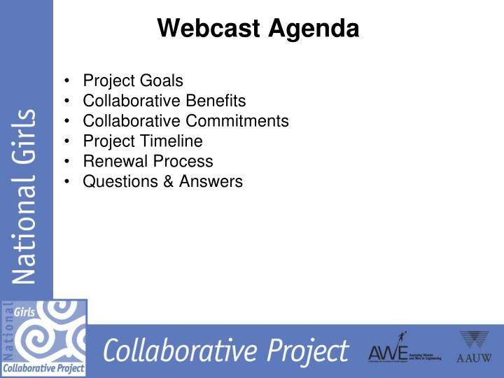 Webcast Agenda