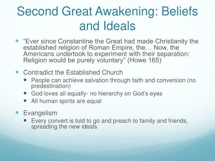 Second Great Awakening: Beliefs and Ideals