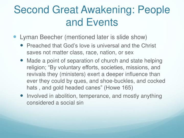 Second Great Awakening: People and Events