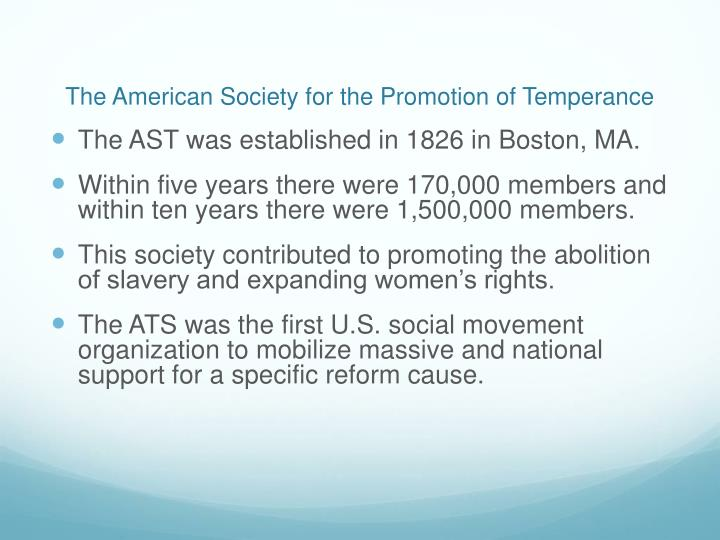 The American Society for the Promotion of Temperance