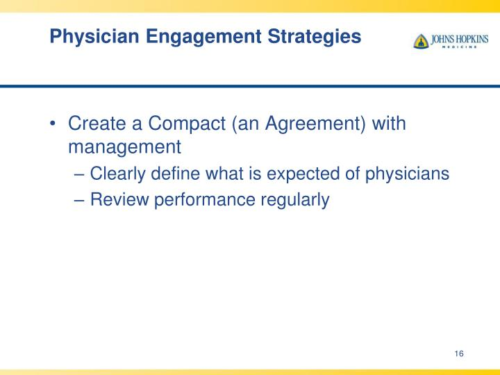 Physician Engagement Strategies