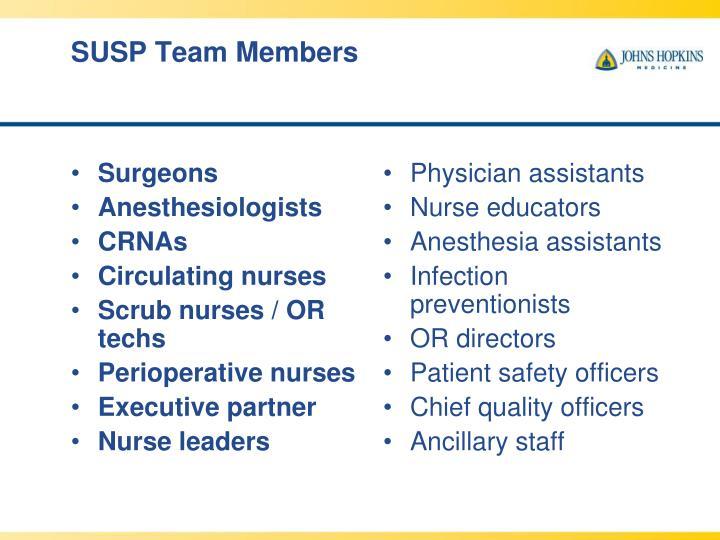 SUSP Team Members