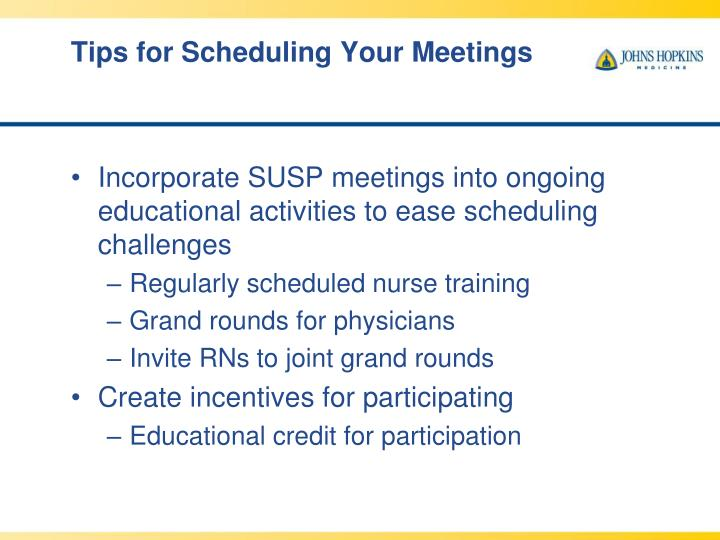 Tips for Scheduling Your Meetings
