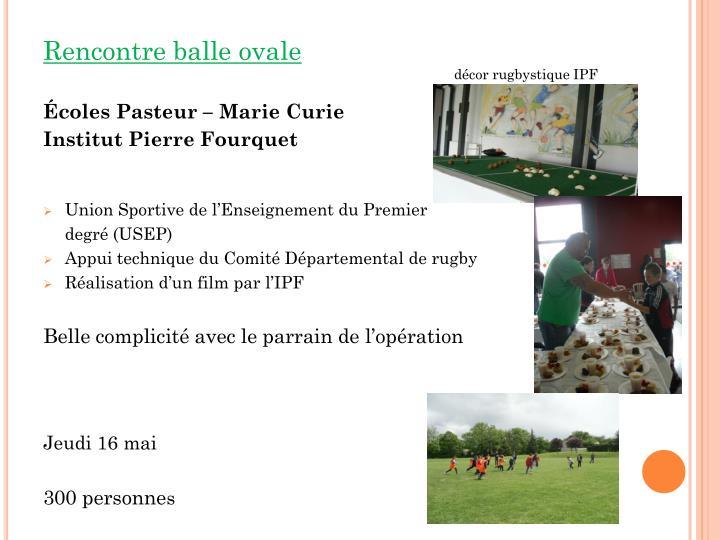 décor rugbystique IPF