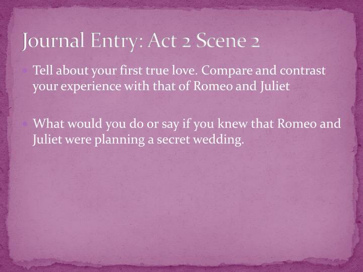 Journal Entry: Act 2 Scene 2