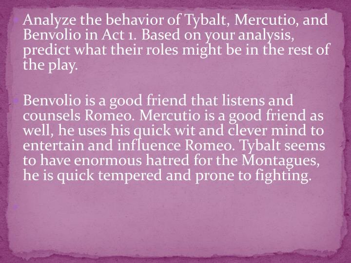 Analyze the behavior of