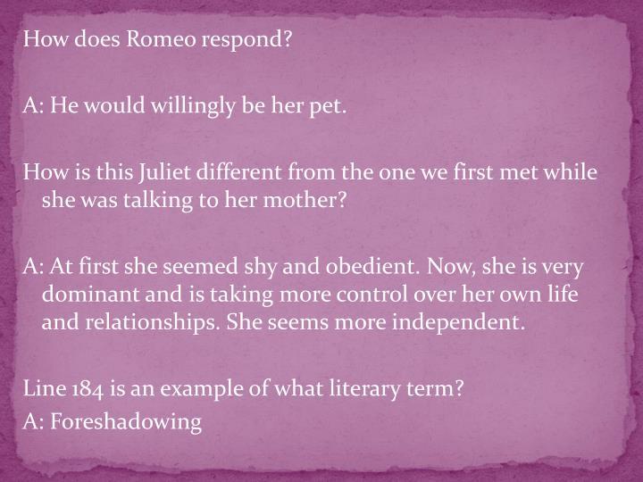 How does Romeo respond?