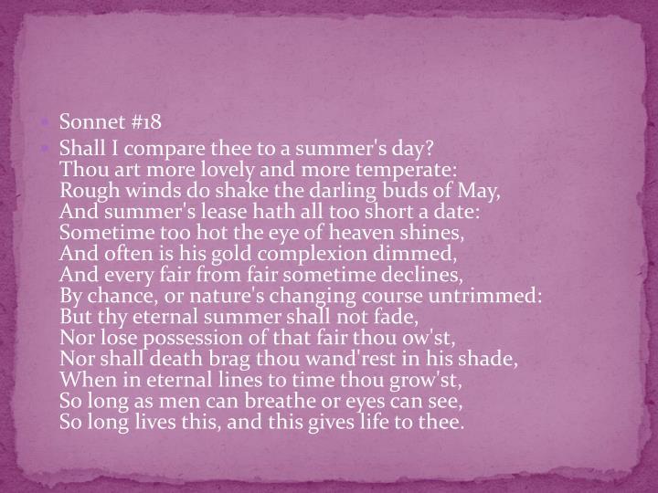 Sonnet #18