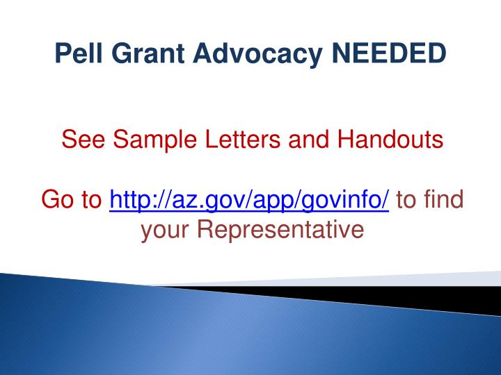 Pell Grant Advocacy NEEDED