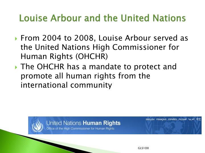 Louise Arbour and the United Nations