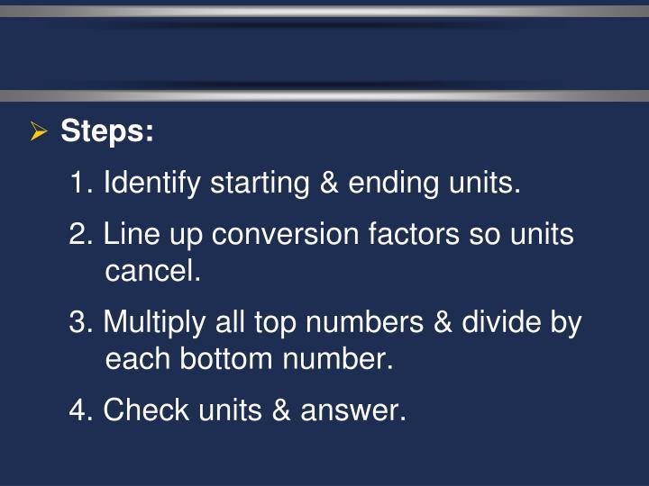 Steps: