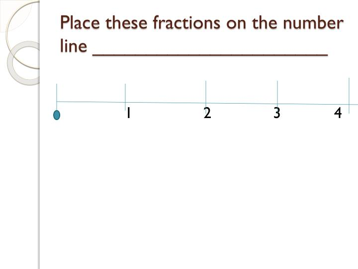Place these fractions on the number line ______________________