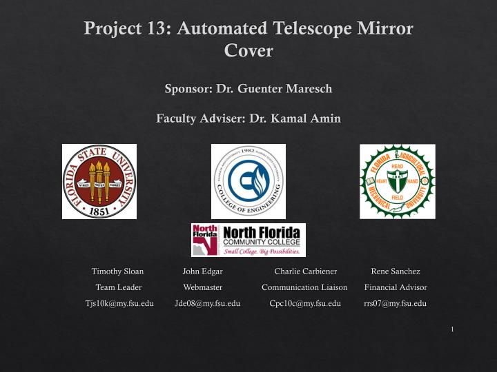 Project 13: Automated Telescope Mirror Cover