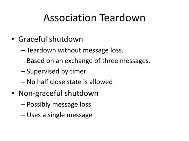 Association Teardown