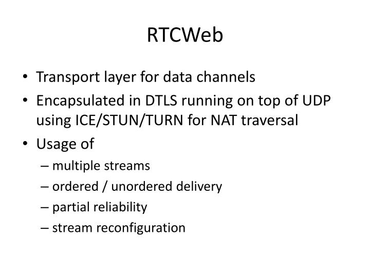 RTCWeb