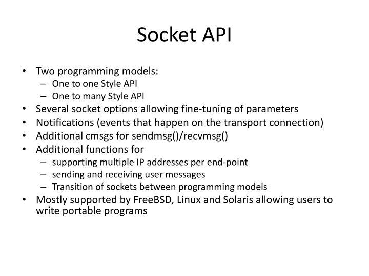 Socket API