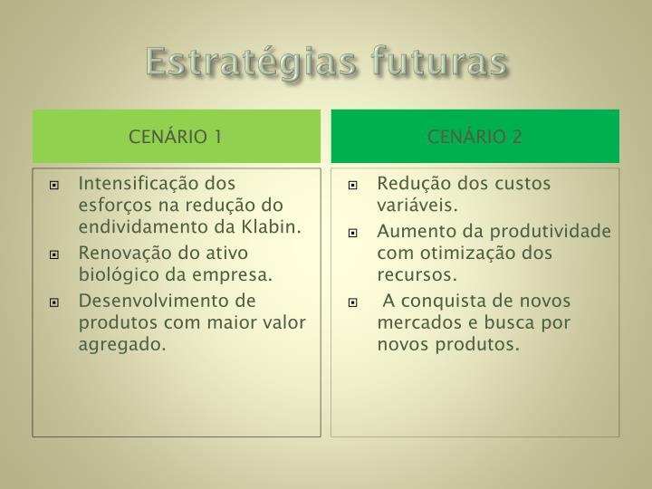 Estratégias futuras