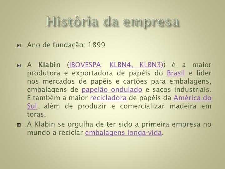 História da empresa