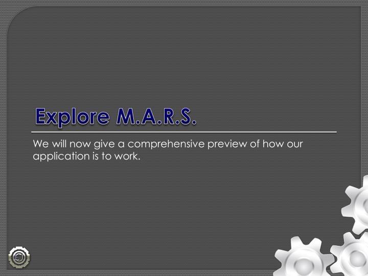 Explore M.A.R.S.