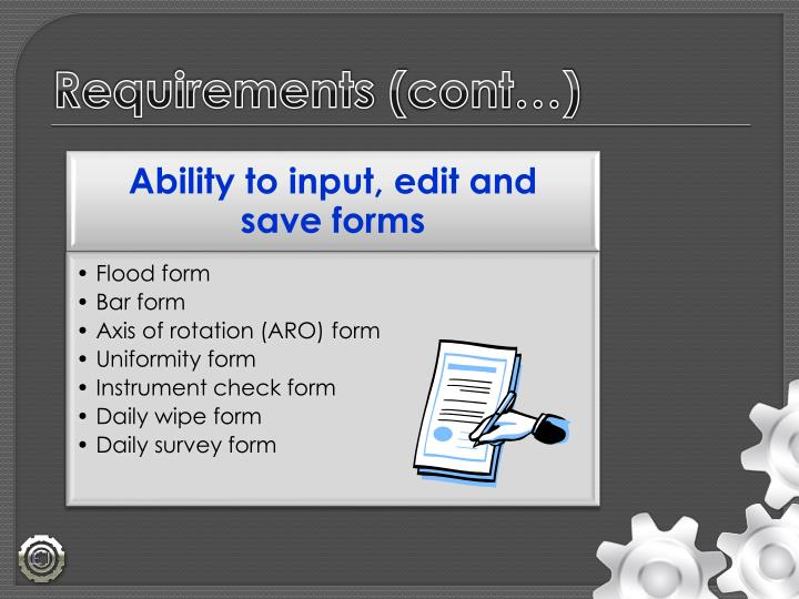 Requirements (