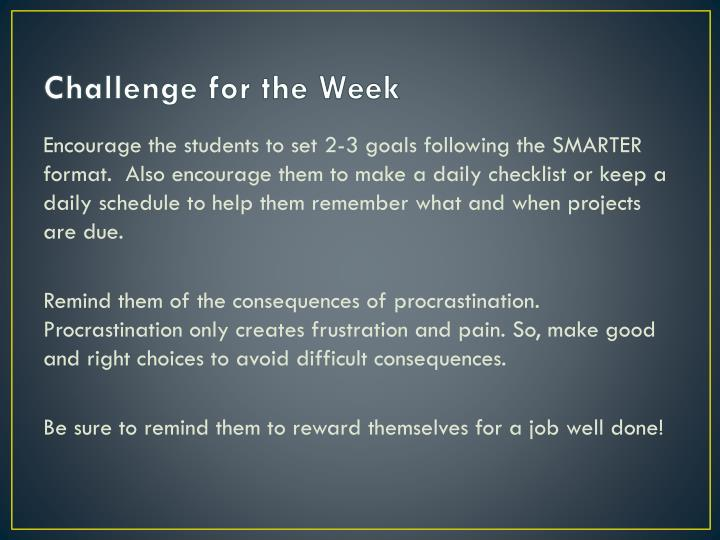 Challenge for the Week