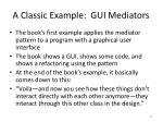 a classic example gui mediators