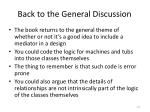 back to the general discussion
