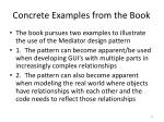 concrete examples from the book