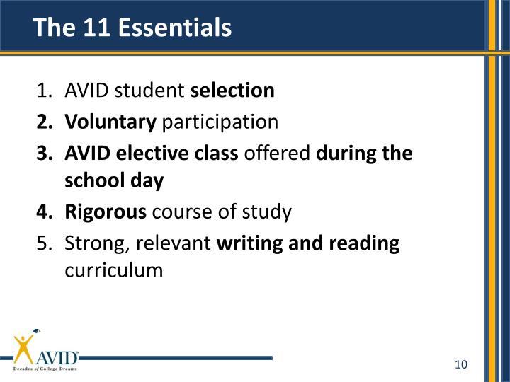 The 11 Essentials