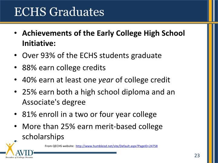 ECHS Graduates
