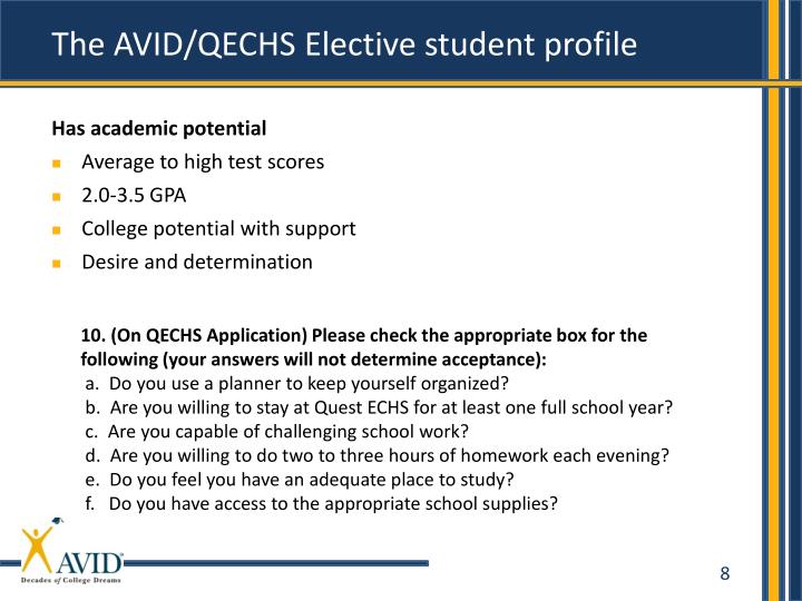 The AVID/QECHS Elective