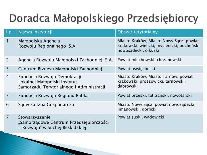 Doradca Małopolskiego Przedsiębiorcy