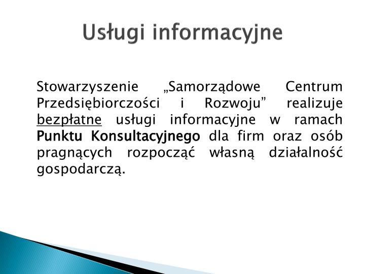 Usługi informacyjne