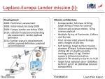 laplace europa lander mission i