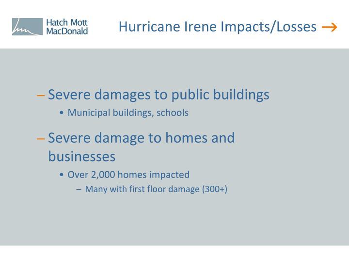 Hurricane Irene Impacts/Losses
