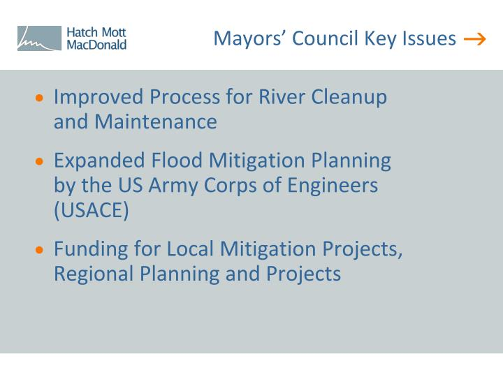 Mayors' Council Key Issues