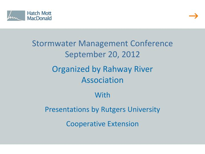 Stormwater Management Conference
