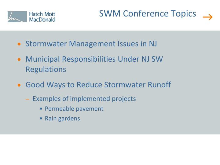 SWM Conference Topics